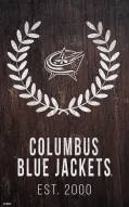 "Columbus Blue Jackets 11"" x 19"" Laurel Wreath Sign"