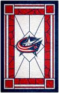 "Columbus Blue Jackets 11"" x 19"" Stained Glass Sign"