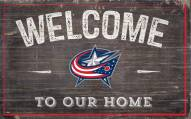 "Columbus Blue Jackets 11"" x 19"" Welcome to Our Home Sign"