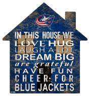 "Columbus Blue Jackets 12"" House Sign"