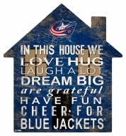 "Columbus Blue Jackets 12"" House Sign"