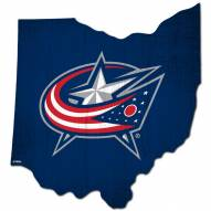"Columbus Blue Jackets 12"" Team Color Logo State Sign"