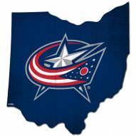 "Columbus Blue Jackets 12"" Team Color Logo State Sign"