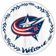 """Columbus Blue Jackets 12"""" Welcome Circle Sign"""