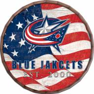 "Columbus Blue Jackets 16"" Flag Barrel Top"