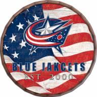 """Columbus Blue Jackets 16"""" Flag Barrel Top"""