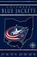 "Columbus Blue Jackets 17"" x 26"" Coordinates Sign"