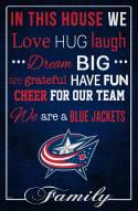 """Columbus Blue Jackets 17"""" x 26"""" In This House Sign"""