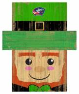 "Columbus Blue Jackets 19"" x 16"" Leprechaun Head"