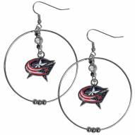 """Columbus Blue Jackets 2"""" Hoop Earrings"""