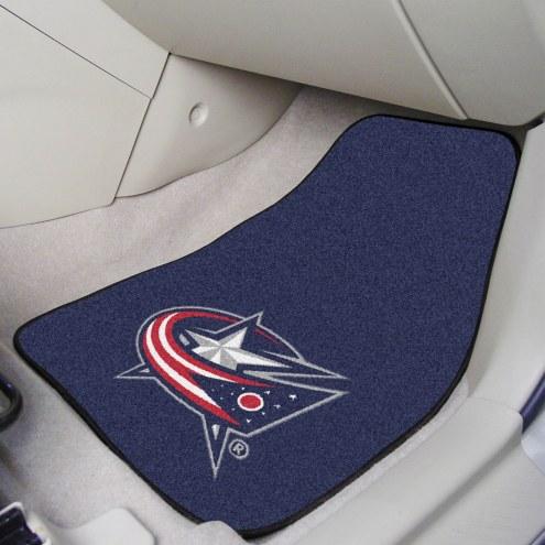 Columbus Blue Jackets 2-Piece Carpet Car Mats