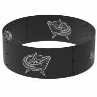 """Columbus Blue Jackets 36"""" Round Steel Fire Ring"""