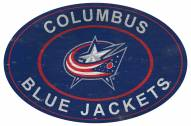 "Columbus Blue Jackets 46"" Heritage Logo Oval Sign"