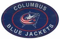 "Columbus Blue Jackets 46"" Heritage Logo Oval Sign"
