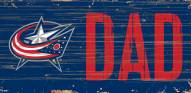 "Columbus Blue Jackets 6"" x 12"" Dad Sign"