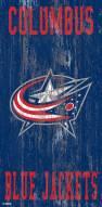 """Columbus Blue Jackets 6"""" x 12"""" Heritage Logo Sign"""