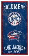 "Columbus Blue Jackets 6"" x 12"" Heritage Sign"