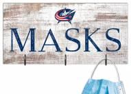 """Columbus Blue Jackets 6"""" x 12"""" Mask Holder"""