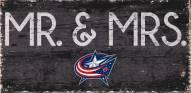 "Columbus Blue Jackets 6"" x 12"" Mr. & Mrs. Sign"