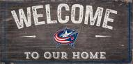 """Columbus Blue Jackets 6"""" x 12"""" Welcome Sign"""