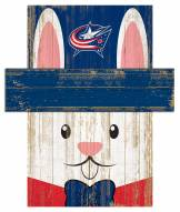 "Columbus Blue Jackets 6"" x 5"" Easter Bunny Head"