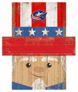 "Columbus Blue Jackets 6"" x 5"" Patriotic Head"