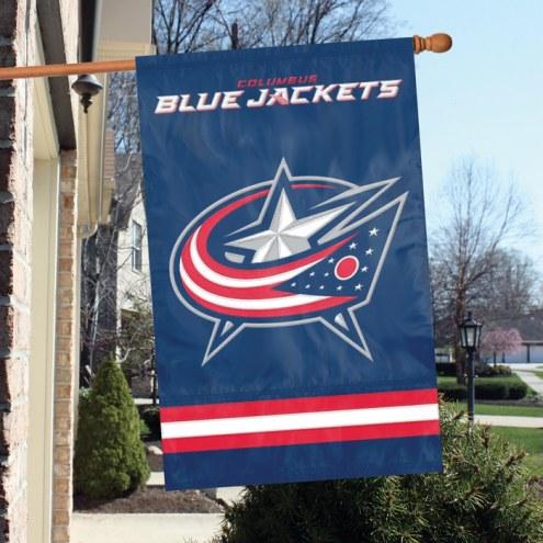 Columbus Blue Jackets Applique Banner Flag