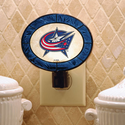 Columbus Blue Jackets Art Glass Night Light
