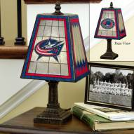 Columbus Blue Jackets Art Glass Table Lamp