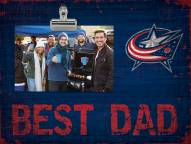 Columbus Blue Jackets Best Dad Clip Frame