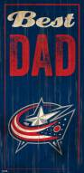 Columbus Blue Jackets Best Dad Sign