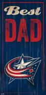 Columbus Blue Jackets Best Dad Sign
