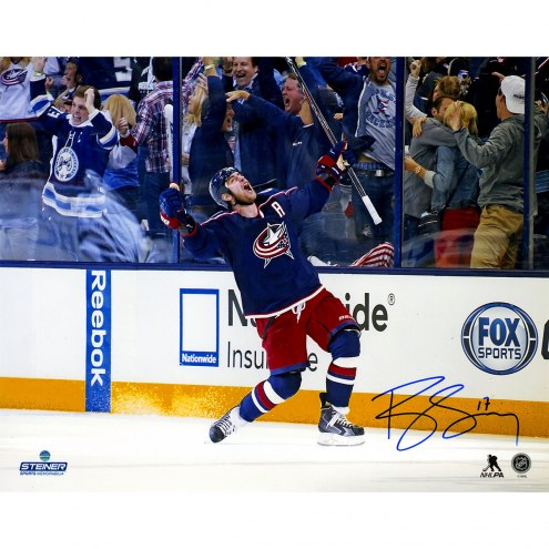 "Columbus Blue Jackets Brandon Dubinsky Celebration Signed 16"" x 20"" Photo"