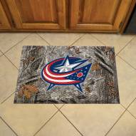 Columbus Blue Jackets Camo Scraper Door Mat
