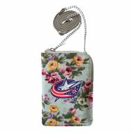 Columbus Blue Jackets Canvas Floral Smart Purse