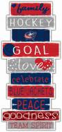 Columbus Blue Jackets Celebrations Stack Sign