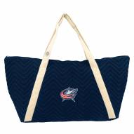 Columbus Blue Jackets Chevron Stitch Weekender Bag