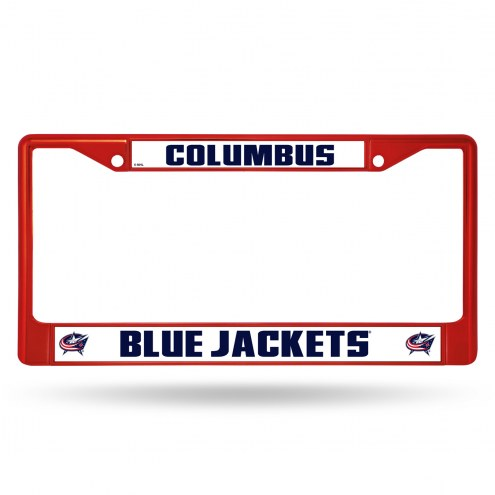 Columbus Blue Jackets Colored Chrome License Plate Frame