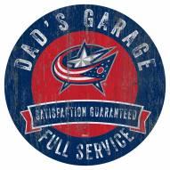 Columbus Blue Jackets Dad's Garage Sign