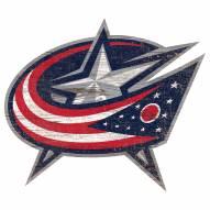 Columbus Blue Jackets Distressed Logo Cutout Sign