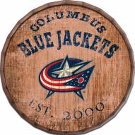 "Columbus Blue Jackets Established Date 24"" Barrel Top"