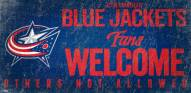 Columbus Blue Jackets Fans Welcome Sign