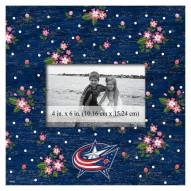 "Columbus Blue Jackets Floral 10"" x 10"" Picture Frame"