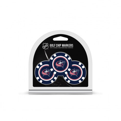 Columbus Blue Jackets Golf Chip Ball Markers