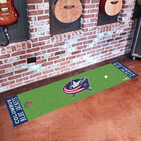 Columbus Blue Jackets Golf Putting Green Mat