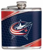 Columbus Blue Jackets Hi-Def Stainless Steel Flask