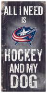 Columbus Blue Jackets Hockey & My Dog Sign