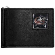 Columbus Blue Jackets Leather Bill Clip Wallet
