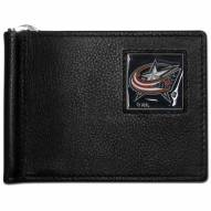 Columbus Blue Jackets Leather Bill Clip Wallet