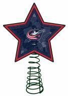 Columbus Blue Jackets Light Up Art Glass Mosaic Tree Topper